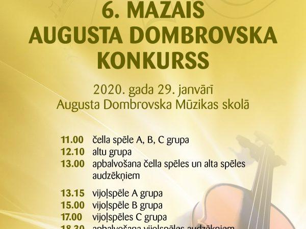 6. Mazais Augusta Dombrovska konkurss